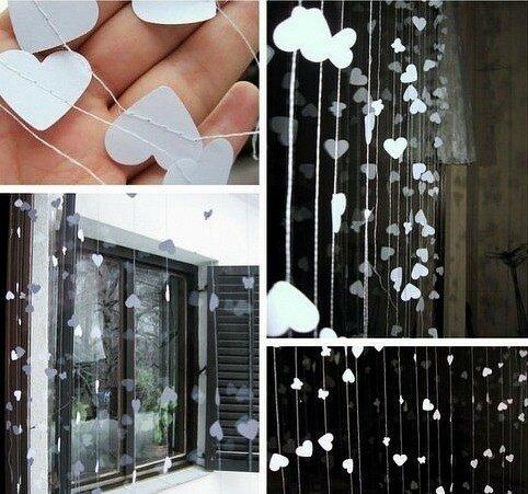 Дождь из бумаги в традиционном японском стиле