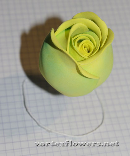роза из пластичной замши мк