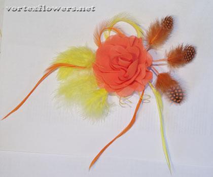 вуалетка с розой