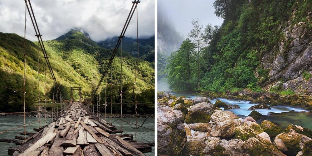Абхазия полна удивительных мест: озера Мзы иРица, Новоафонская пещера, Новоафонский монастырь, водо