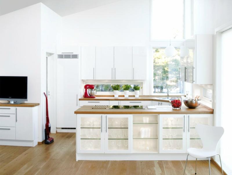 Белый цвет в интерьере кухни, фото 6