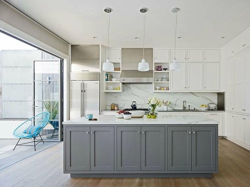 Белый цвет в интерьере кухни, фото 8