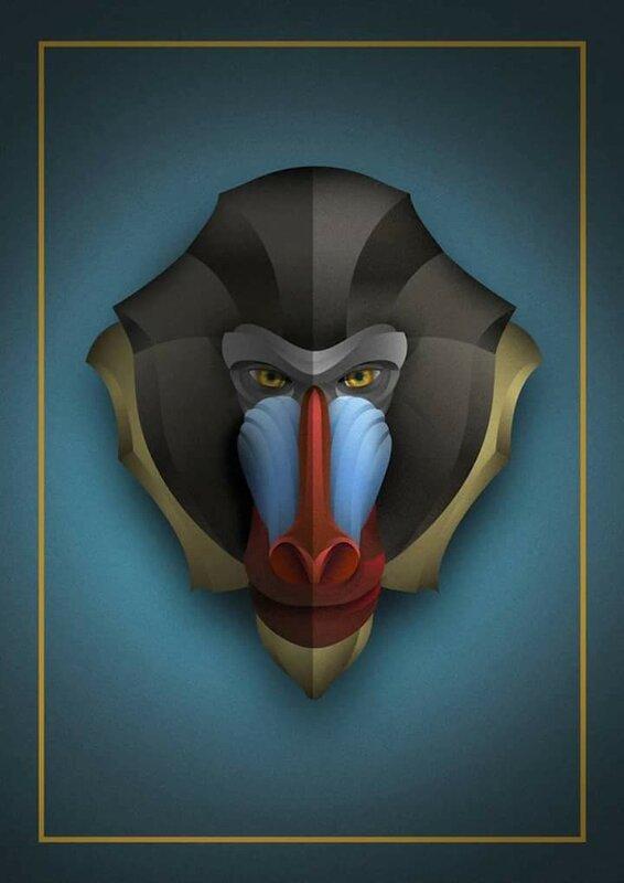 Симметрические портреты животных Рудика Вальдеса