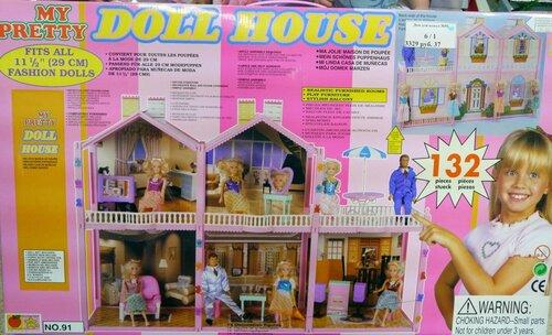 Кукольный домик 5 комнат My Pretty Doll House 132 детали