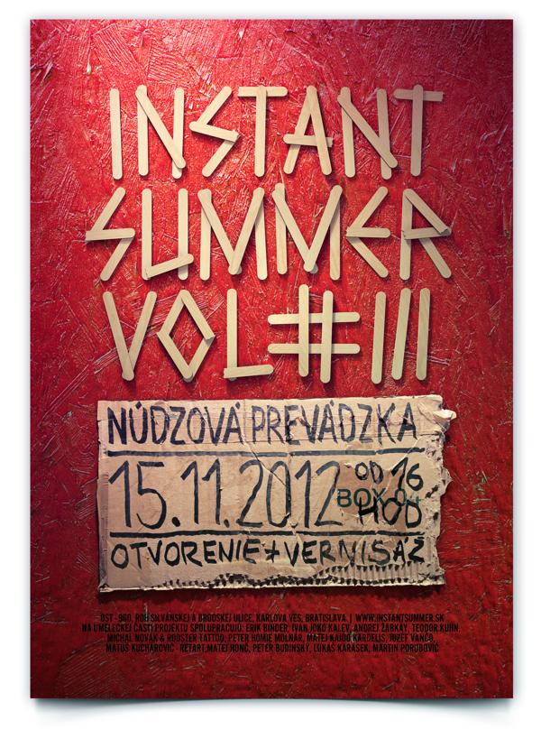 Instant summer poster by Lukas Karasek