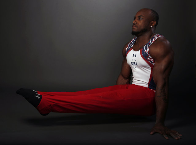 Gymnast Donnell Whittenburg poses for a portrait at the U.S. Olympic Committee Media Summit in Bever