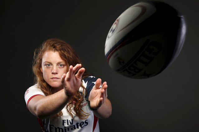 Rugby player Alev Kelter poses for a portrait at the U.S. Olympic Committee Media Summit in Beverly