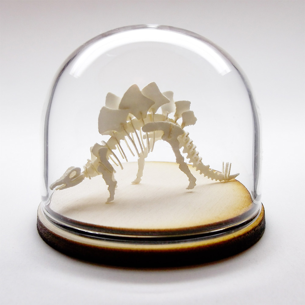 Miniature DIY Paper Skeleton Kits by Tinysaur