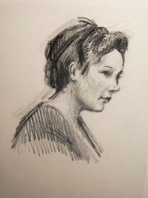 Художник Подляская Л.П. Портрет неизвестного художника 1950-х годов.