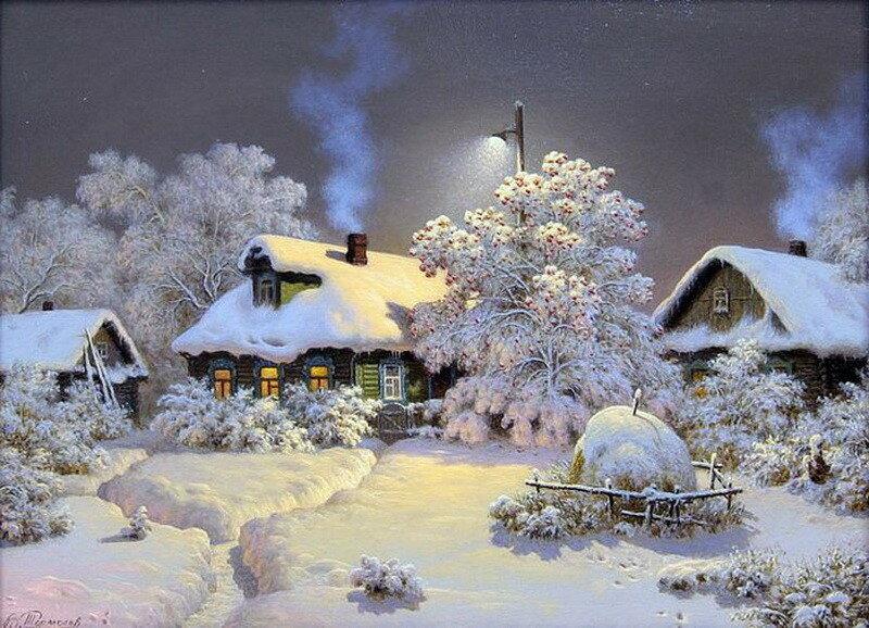Зима. Художник Виктор Тормосов