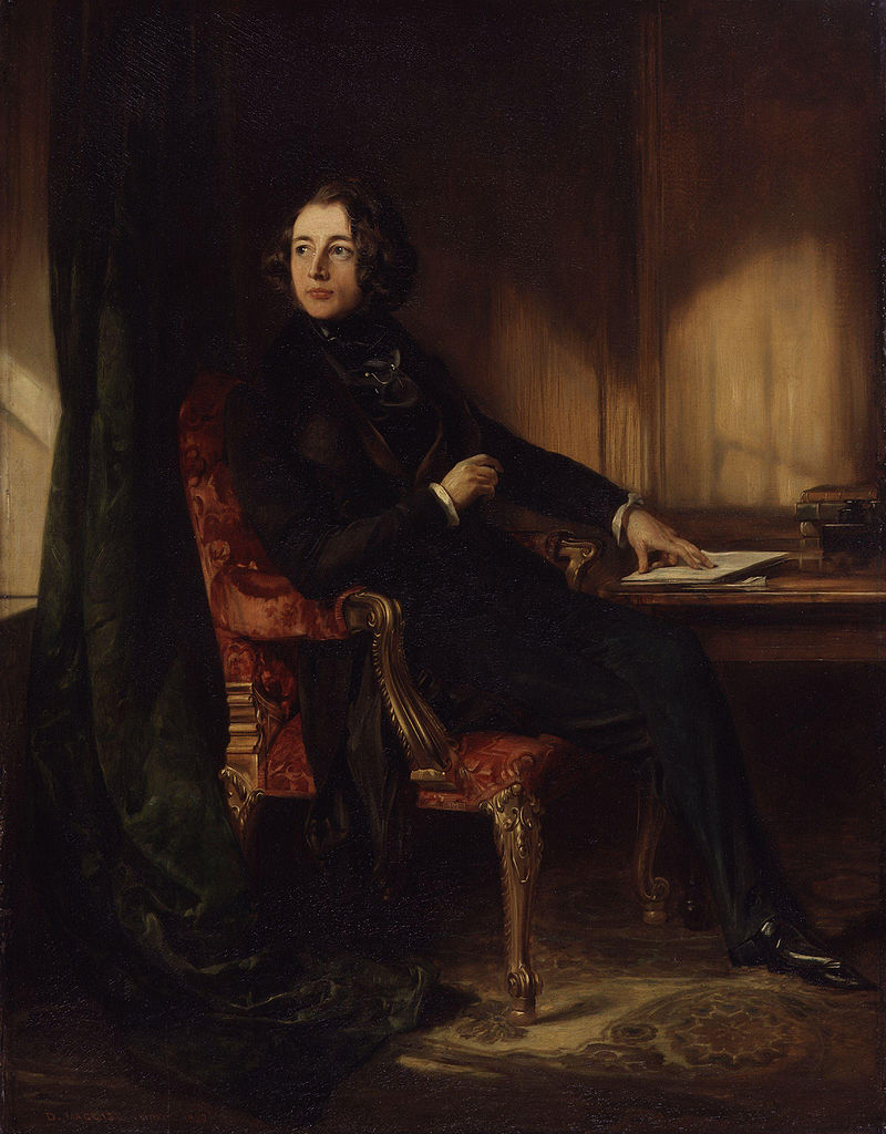 Young Charles Dickens by Daniel Maclise (1839)