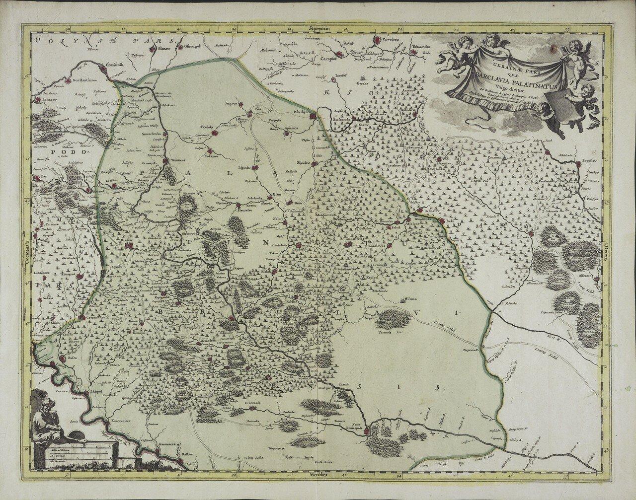 1721. Карта Брацлавщины