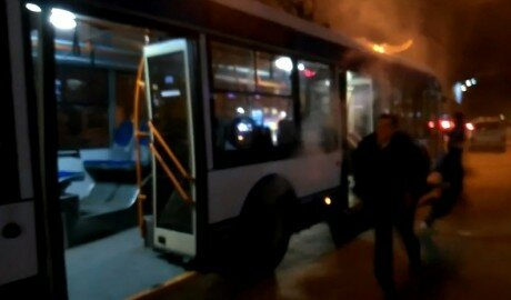 В Кишинёве задымился недавно собранный троллейбус