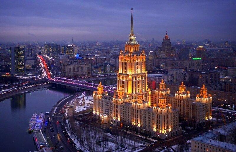 Гостиница Украина, Москва (фото с помощью беспилотника)