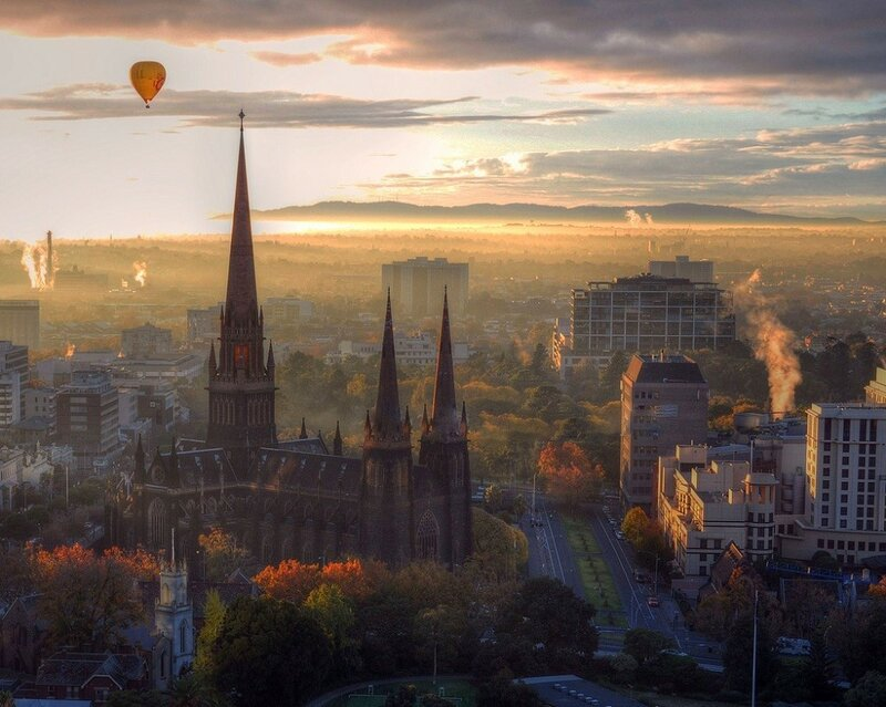 Вид на город Мельбурн