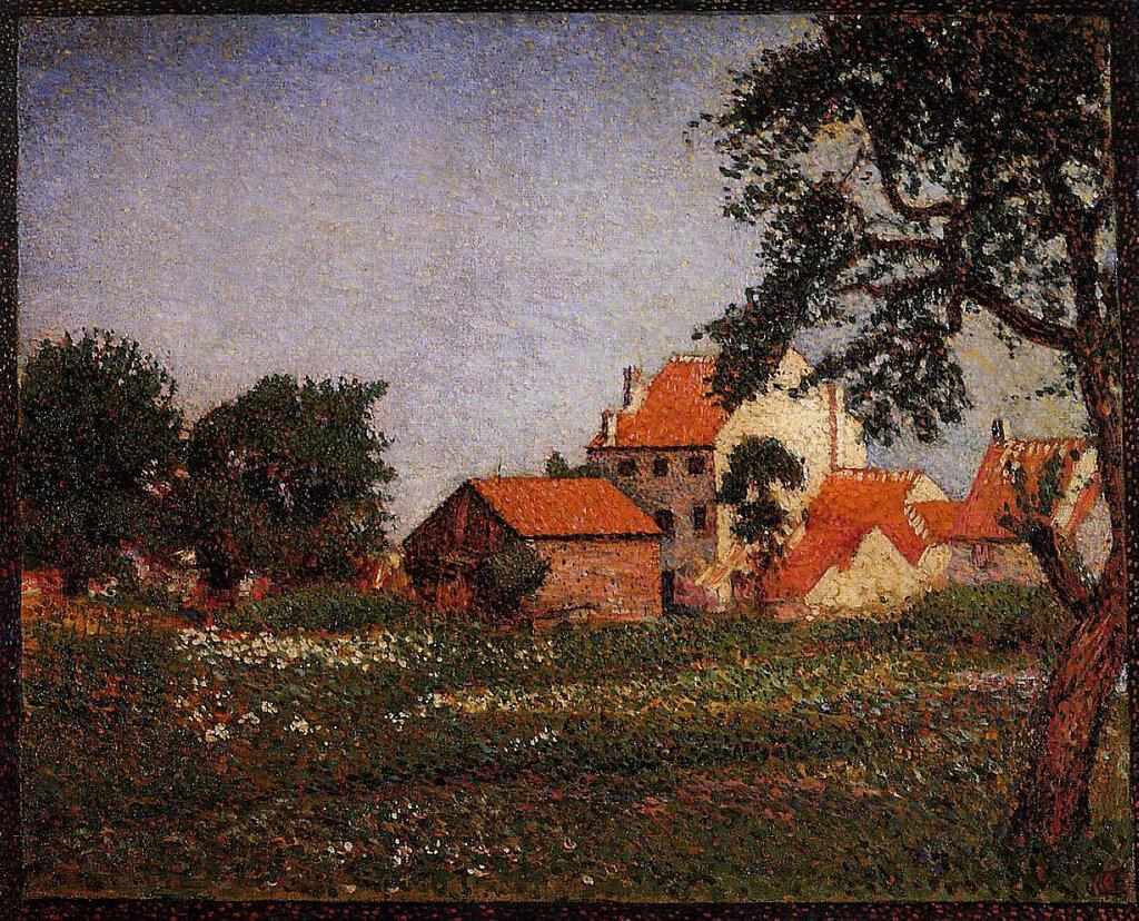 Georges Lemmen - Houses at La Hulpe, 1888.jpeg