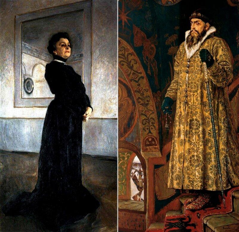 Работы В. Серова и В. Васнецова