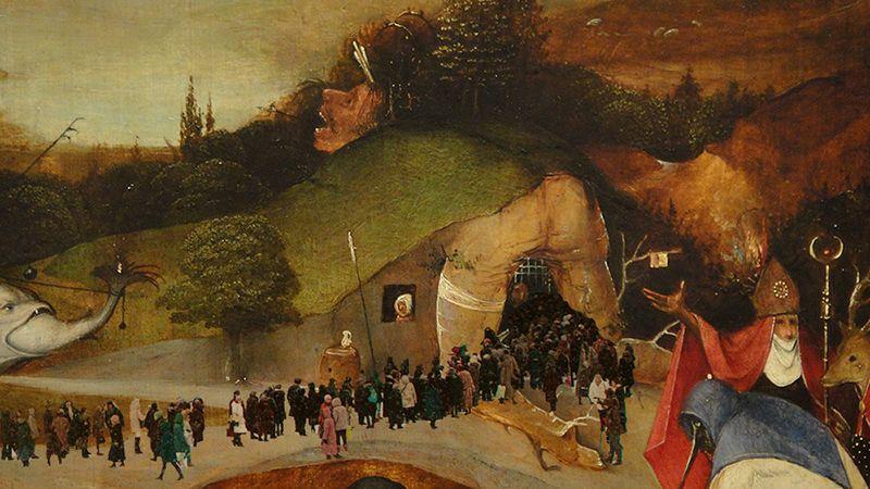 Иероним Босх, «Искушения святого Антония в очереди на Серова», 1531