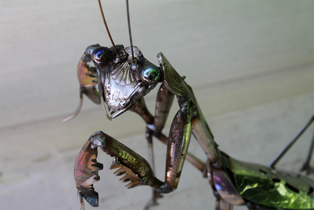 Welded Insects Produced From Salvaged Metal Scraps by John Brown