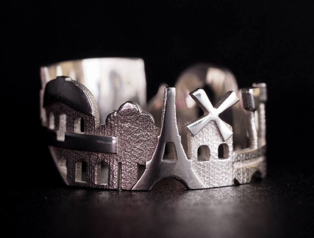 Cityscape Rings Feature Architectural Highlights of Iconic Cities