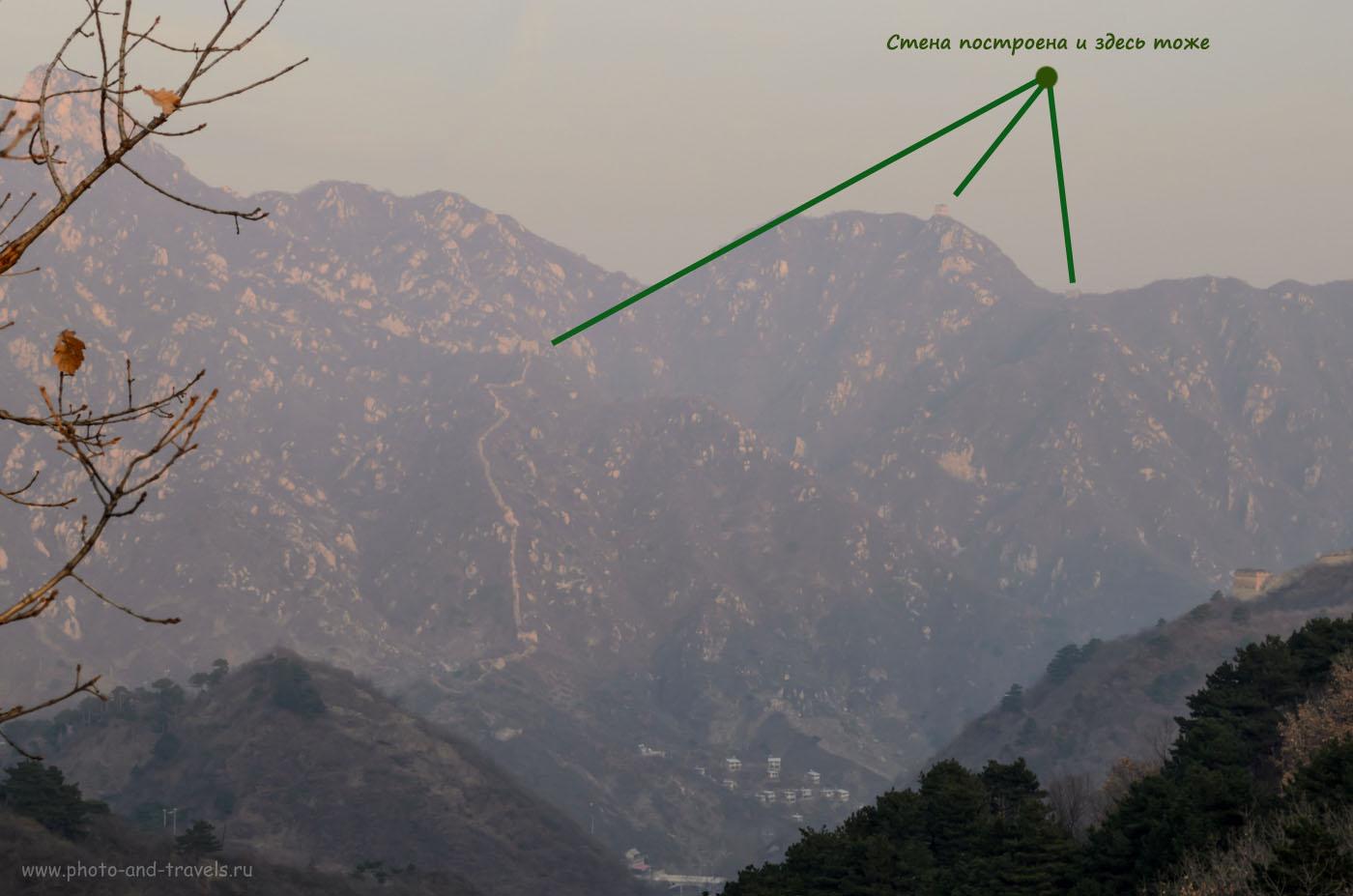 Фотография 8. Великая Китайская Стена. Сколько усилий приложено, чтобы все это построить в горах!