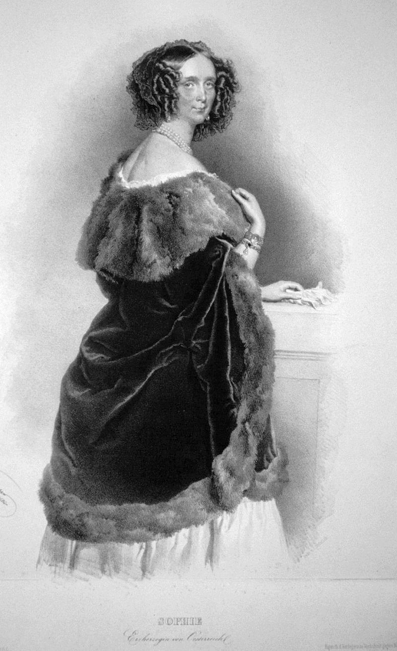 Sophie Friederike von Bayern, Erzherzogin von Österreich, Mutter des Kaisers Franz Josef I.
