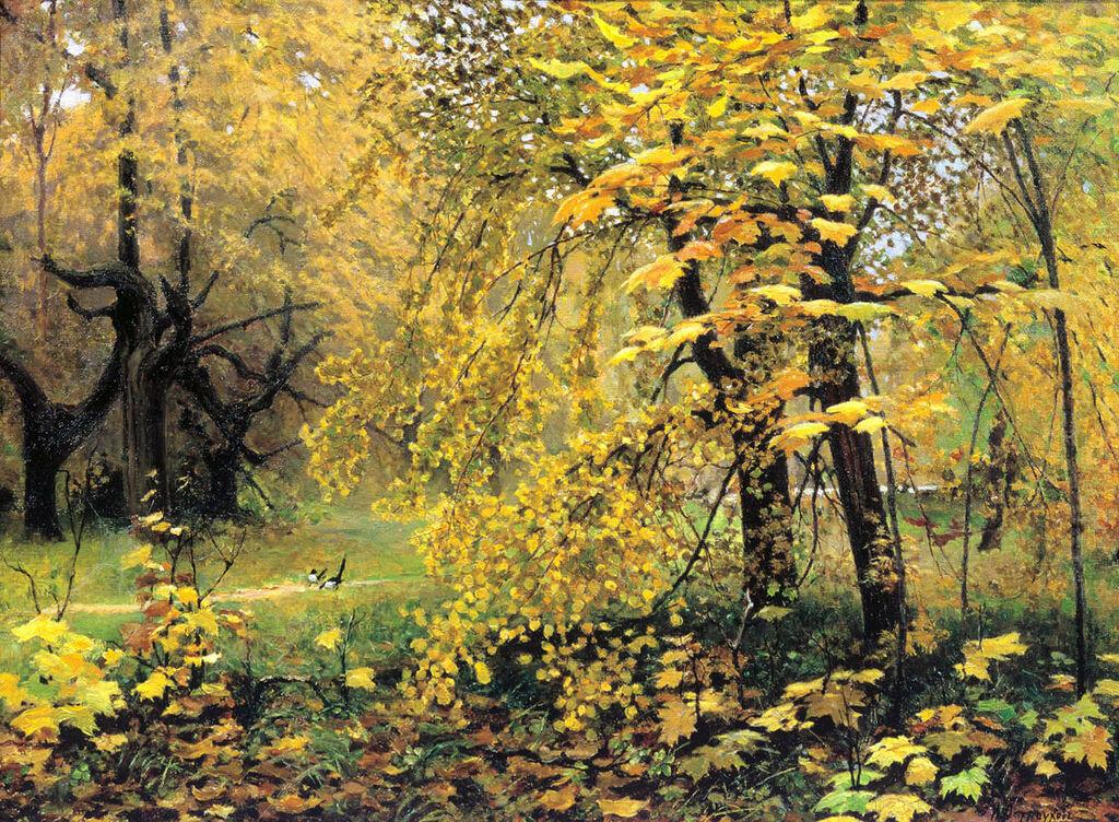 «Золотая осень»1887Холст, масло. 48.2 x 66.3 смГосударственная Третьяковская галерея