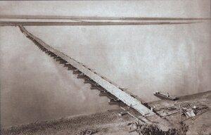 Понтонный мост между Зимницей и Свиштовом со стороны Болгарии, август 1877