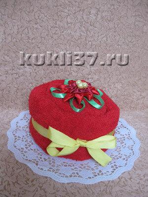 торт-подарок из полотенца