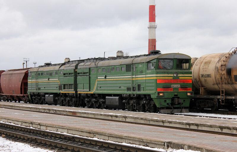 2ТЭ10МК-3568 на станции Полоцк
