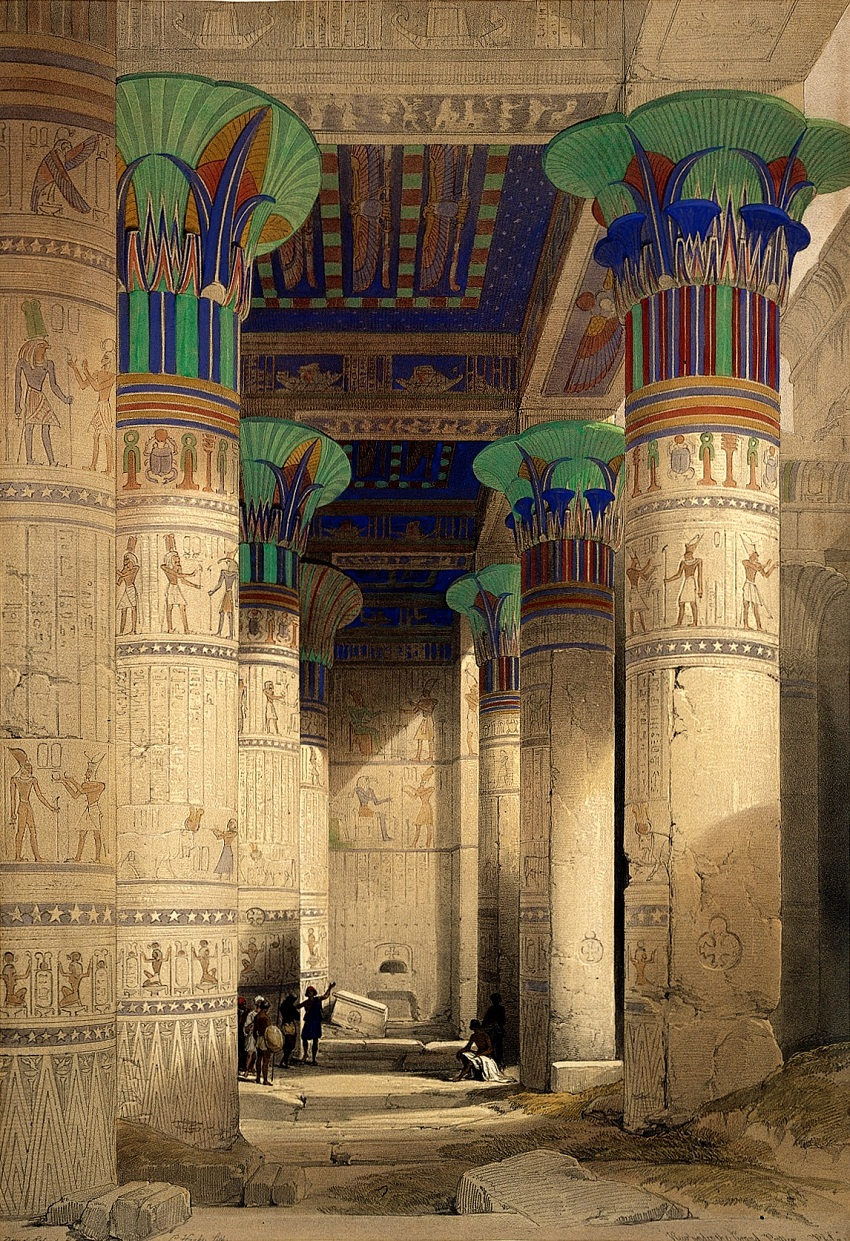 L0021558 Philae, Egypt: the hypostyle hall within the temple of