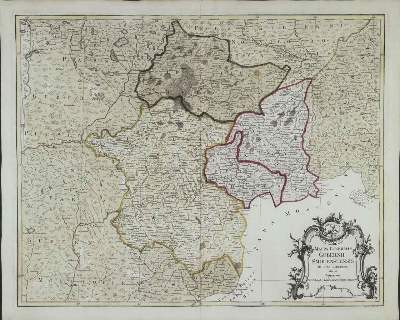 1750. Карта Смоленской губернии