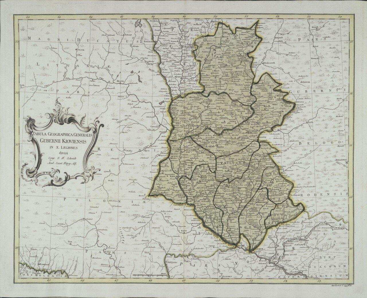 1750. Карта Киевской губернии