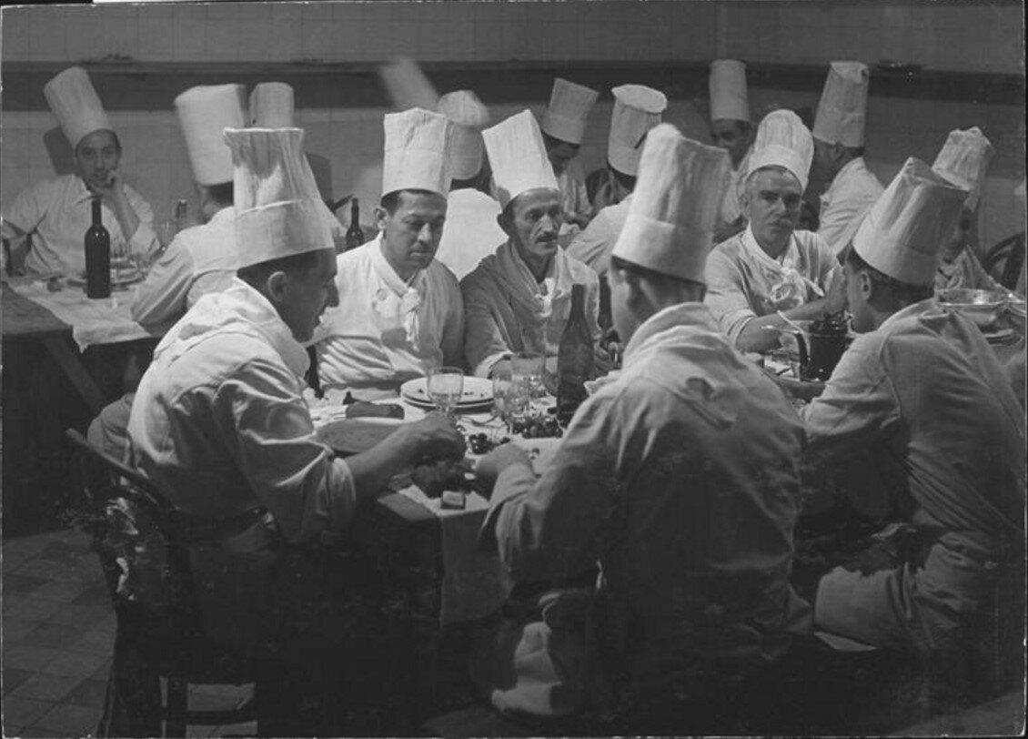 1944. Обед поваров в отеле де Пари в Монте-Карло