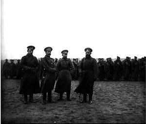 65. 1915. Парад в Гроховском полку. 25 ноября (6 декабря).Деревня Юровичи Минской губернии