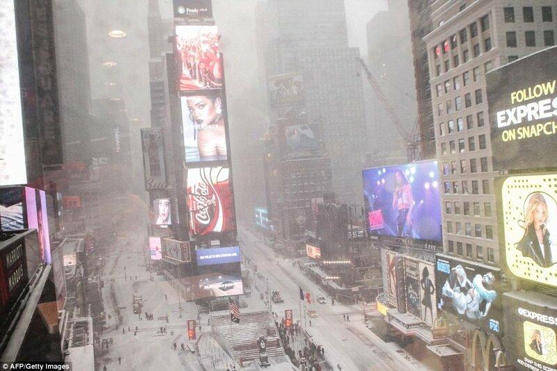 Снег, Нью-Йорк