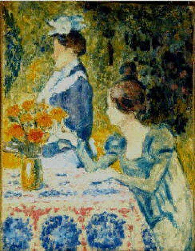 TWO WOMEN IN THE GARDEN (C.1900)  Париж. Музей Орсэ (Франция)