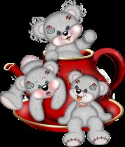 мишки Тедди в чашке