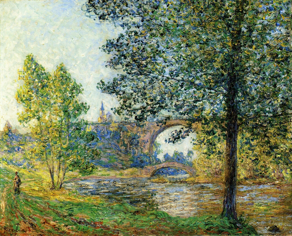 Francis Picabia - Banks of the Eure, Sunlight Effect, Evening, 1901.jpeg