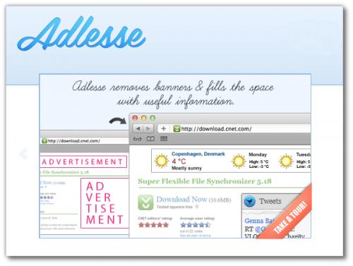 Adlesse: Как в браузере заменить рекламу на полезную информацию
