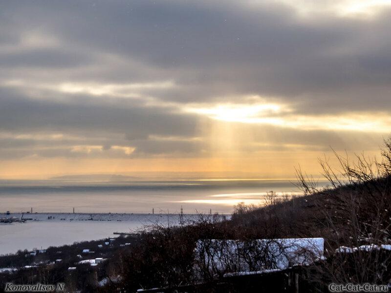 Зимой на склоне Волги