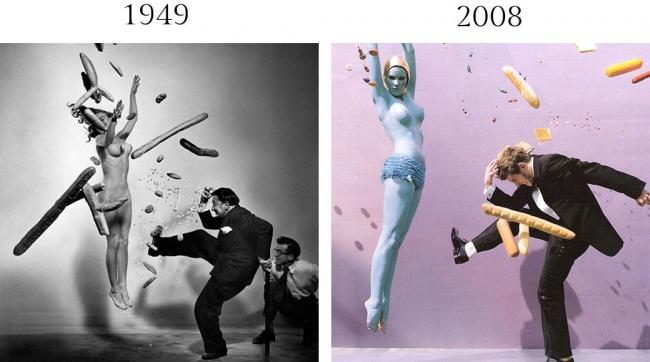 Усоздателя сюрреалистической фотографии вмоде Ман Рэя было много последователей, иФилипп Халсман