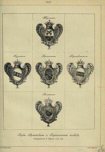 259. Гербы Армейских и Гарнизонных полков, утвержденные 8 Марта 1730 года.