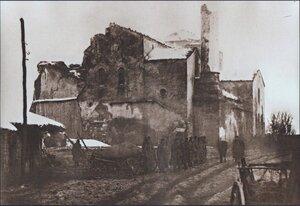 Развалины церкви Святой Софии в столице Болгарии, январь 1878
