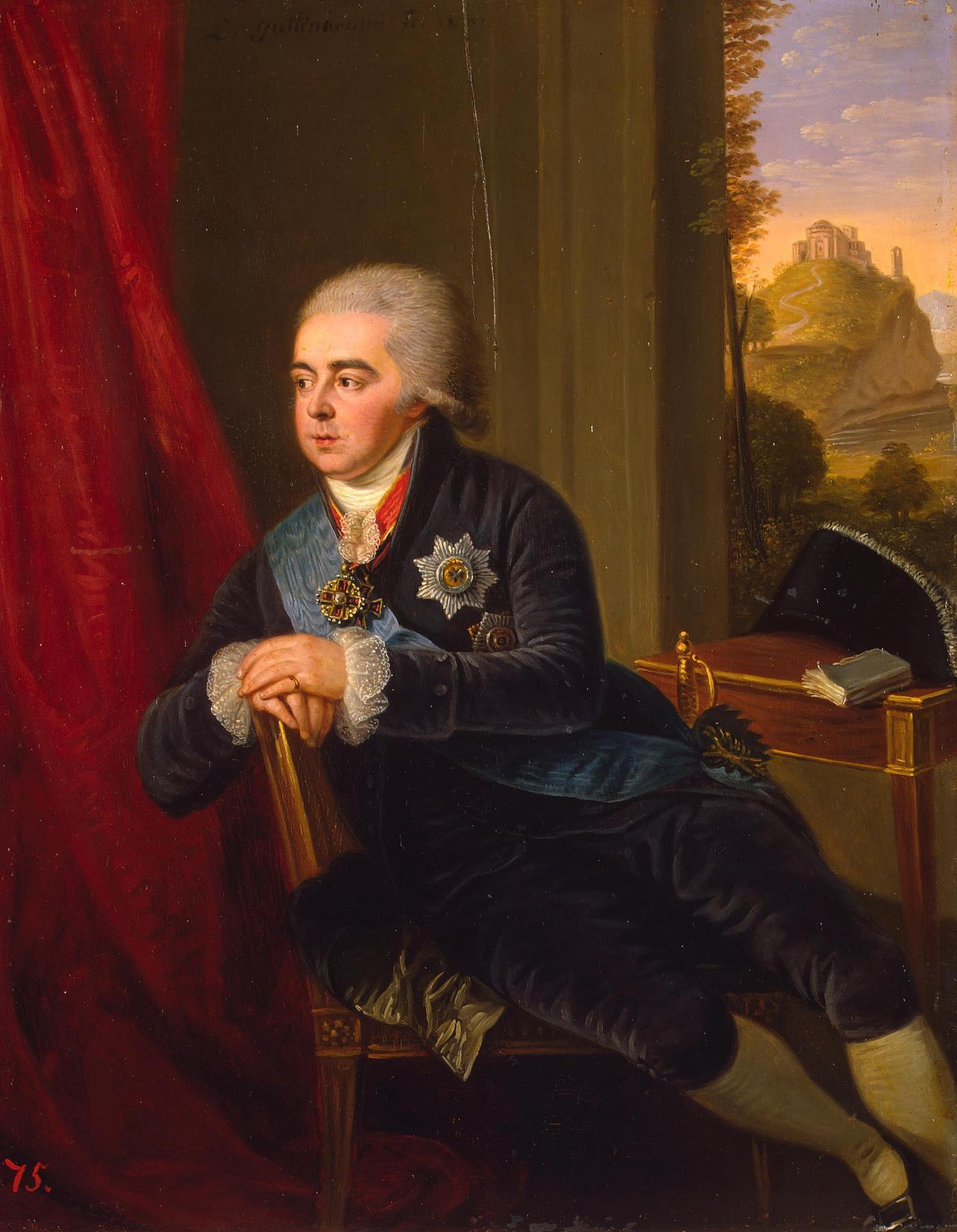 Гуттенбрунн Людвиг (1750-1813) Портрет А.Б. Куракина 1801 40x31 см