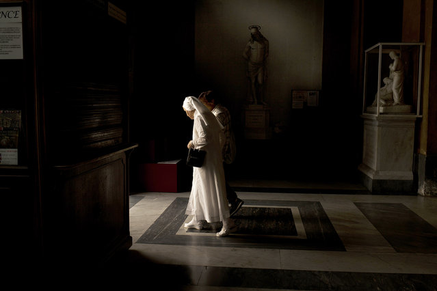 """The Martyr and the Wrap White"". ""I shot this photo in August 2015 in Rome. My girlfriend and my lit"