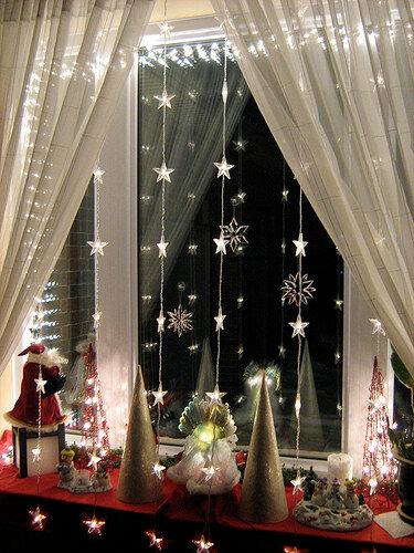 Декорирование окон к новому году