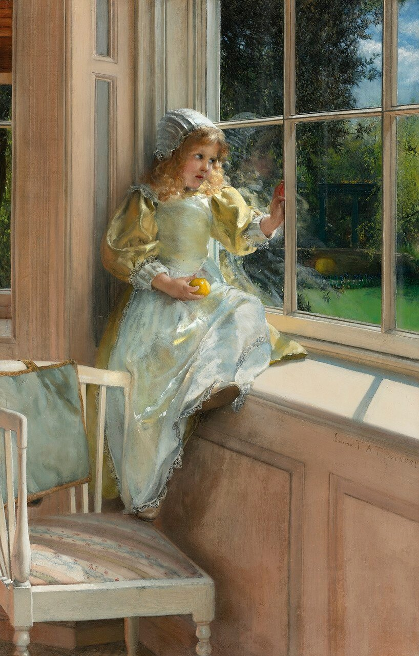 Lady Laura-Thérésa Alma-Tadema A LOOKING OUT O'WINDOW, SUNSHINE