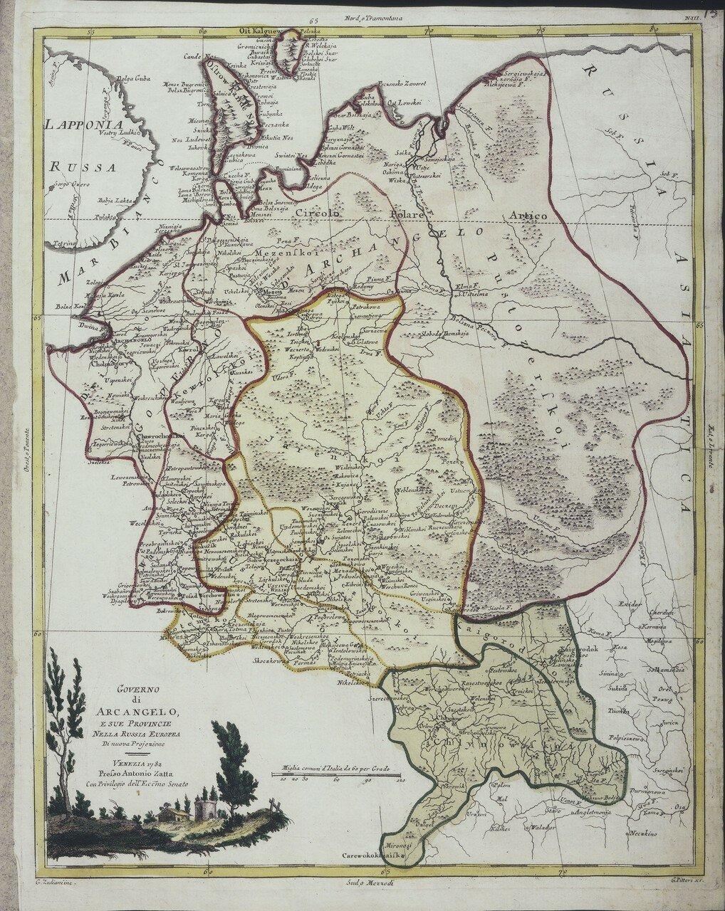 1782. Архангельская губерния в Европейской России