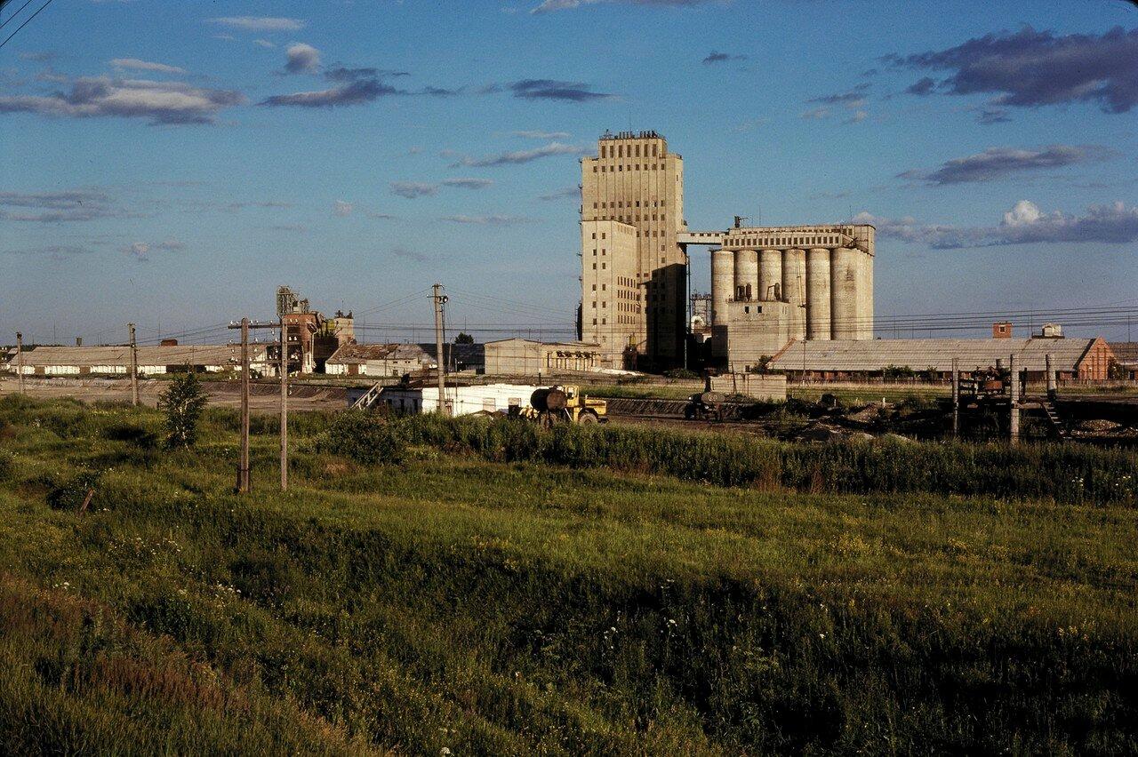 Зерновые элеваторы к востоку от Барабинска